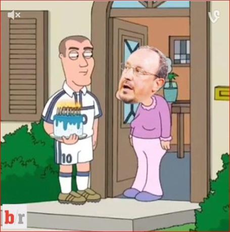 Zidane chúc mừng Benitez sau khi rời khỏi Real Madrid