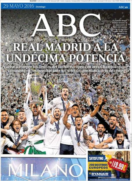 Tờ ABC (Tây Ban Nha): Real Madrid cho thấy sức mạnh với cú Undecima