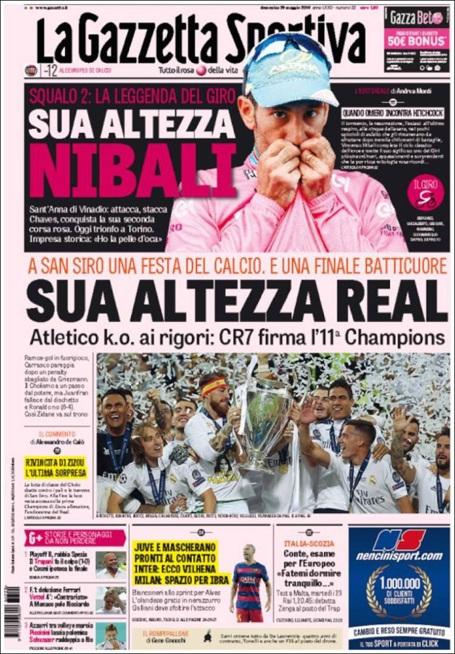 Tờ Gazzetta dello Sport (Italia) ca ngợi Real Madrid và C.Ronaldo