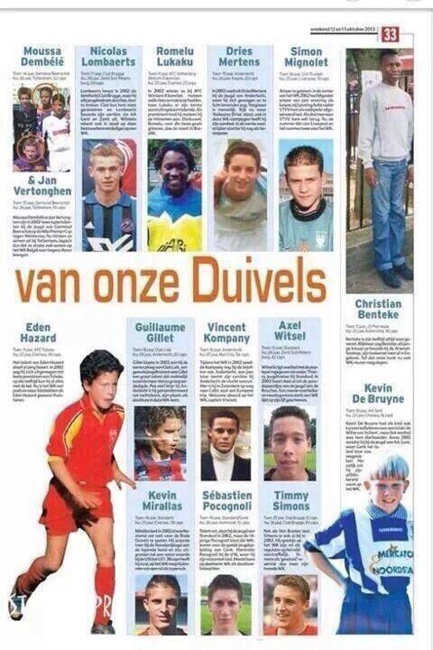 Người Bỉ dự đoán rất chuẩn về thế hệ vàng tương lai
