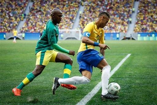 Olympic Brazil gây thất vọng trong trận mở màn