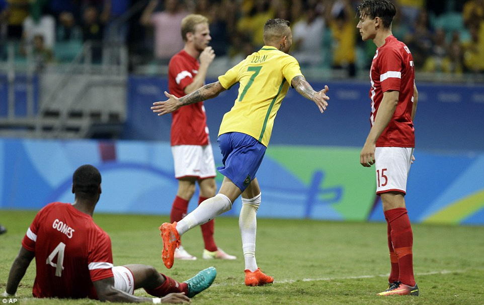 U23 Brazil hủy diệt U23 Đan Mạch