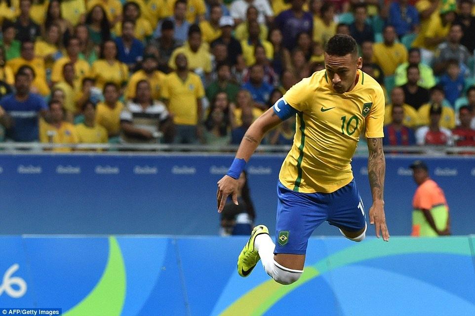 Neymar vẫn chưa thể ghi bàn cho U23 Brazil