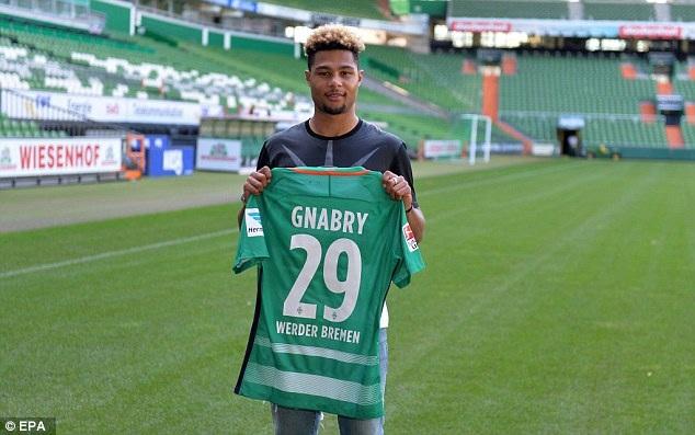 Serge Gnabry đầu quân cho Werder Bremen