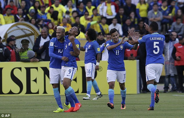 Brazil giành chiến thắng trước Ecuador