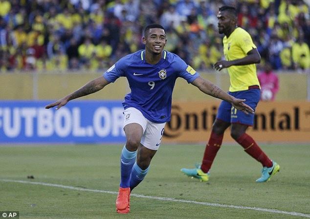 Gabriel Jesus rực sáng mang về chiến thắng cho Brazil