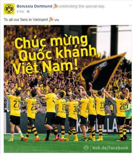 Nhiều CLB hàng đầu châu Âu chúc mừng Quốc khánh Việt Nam - 1