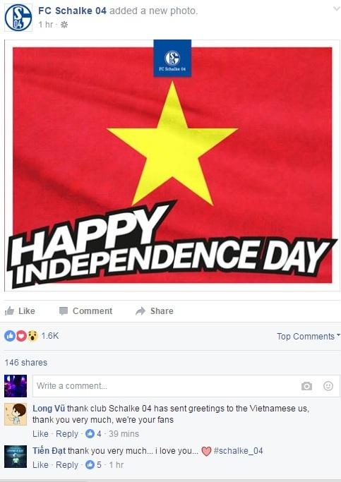 Nhiều CLB hàng đầu châu Âu chúc mừng Quốc khánh Việt Nam - 3