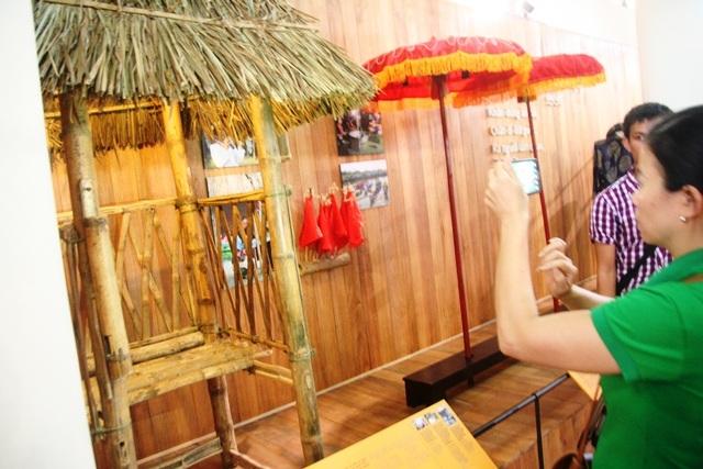 Cài chòi dùng để chơi đánh bài chòi - trò chơi dân gian nổi tiếng của làng Thanh Toàn dịp tết
