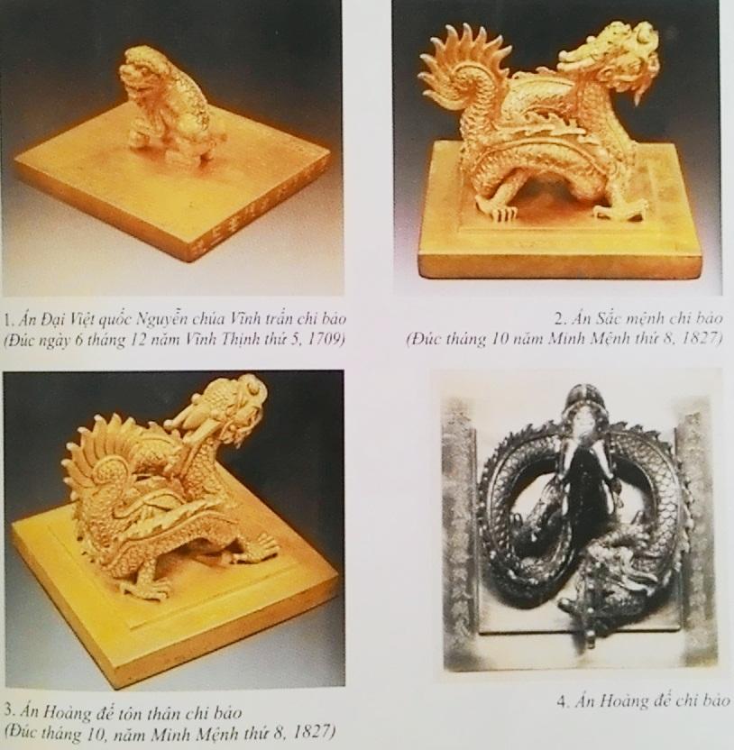 Các ấn vàng thời vua Nguyễn