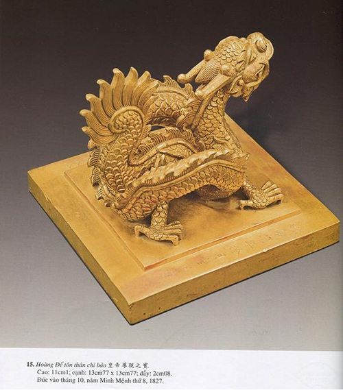 Ấn Hoàng Đế chi bảo nặng nhất (10,5kg vàng) hiện đang ở tại Bảo tàng Lịch sử Quốc gia