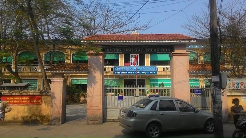 Trường Tiểu học Thuận Hòa nơi xảy ra sự việc 1 nữ sinh lớp 3 bị người lạ đến đánh vào đầu và đưa đi khỏi trường