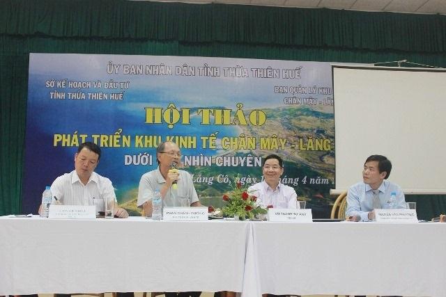 Hội thảo do sự chủ trì của Sở Kế hoạch và Đầu tư tỉnh Thừa Thiên Huế cùng các chuyên gia kinh tế giàu kinh nghiệm