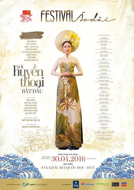 Poster Lễ hội Áo dài Huế trong Festival Huế 2016