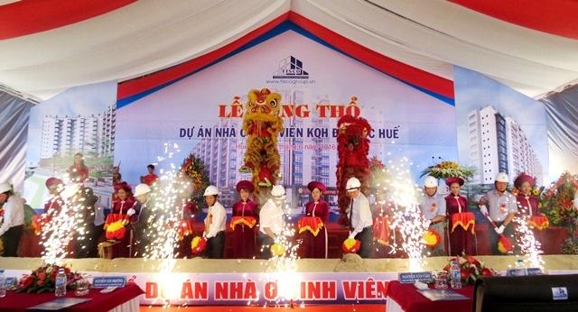 Lãnh đạo tỉnh Thừa Thiên Huế cùng chủ đầu tư và các bên liên quan làm nghi thức động thổ dự án