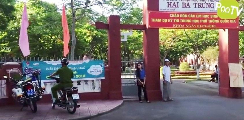 Khung cảnh của kỳ thi THPT Quốc gia 2016 được đưa vào clip