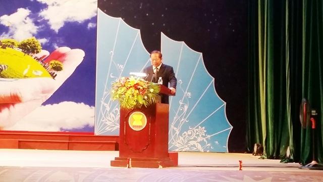 Ủy viên Trung ương Đảng, Bộ trưởng Bộ TT&TT Trương Minh Tuấn phát biểu tại Lễ khai mạc