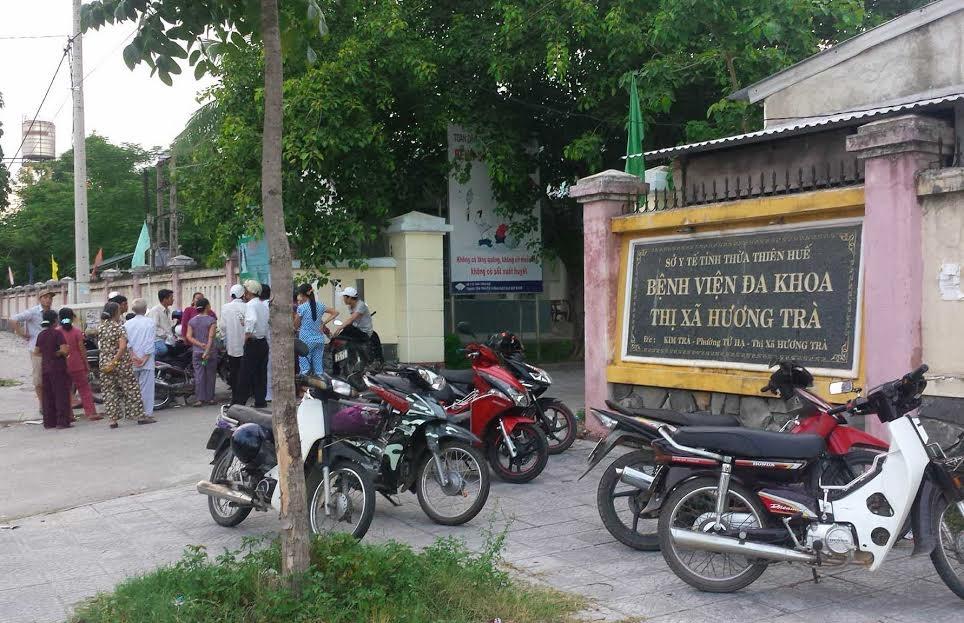 Bệnh viện thị xã Hương Trà nơi xảy ra vụ việc nữ bệnh nhân tử vong bất thường