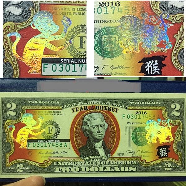 Loại đồng 2 đô la in hình chú khỉ mạ vàng được bán nhiều nhất với mức giá chênh từ 5 - 10 lần