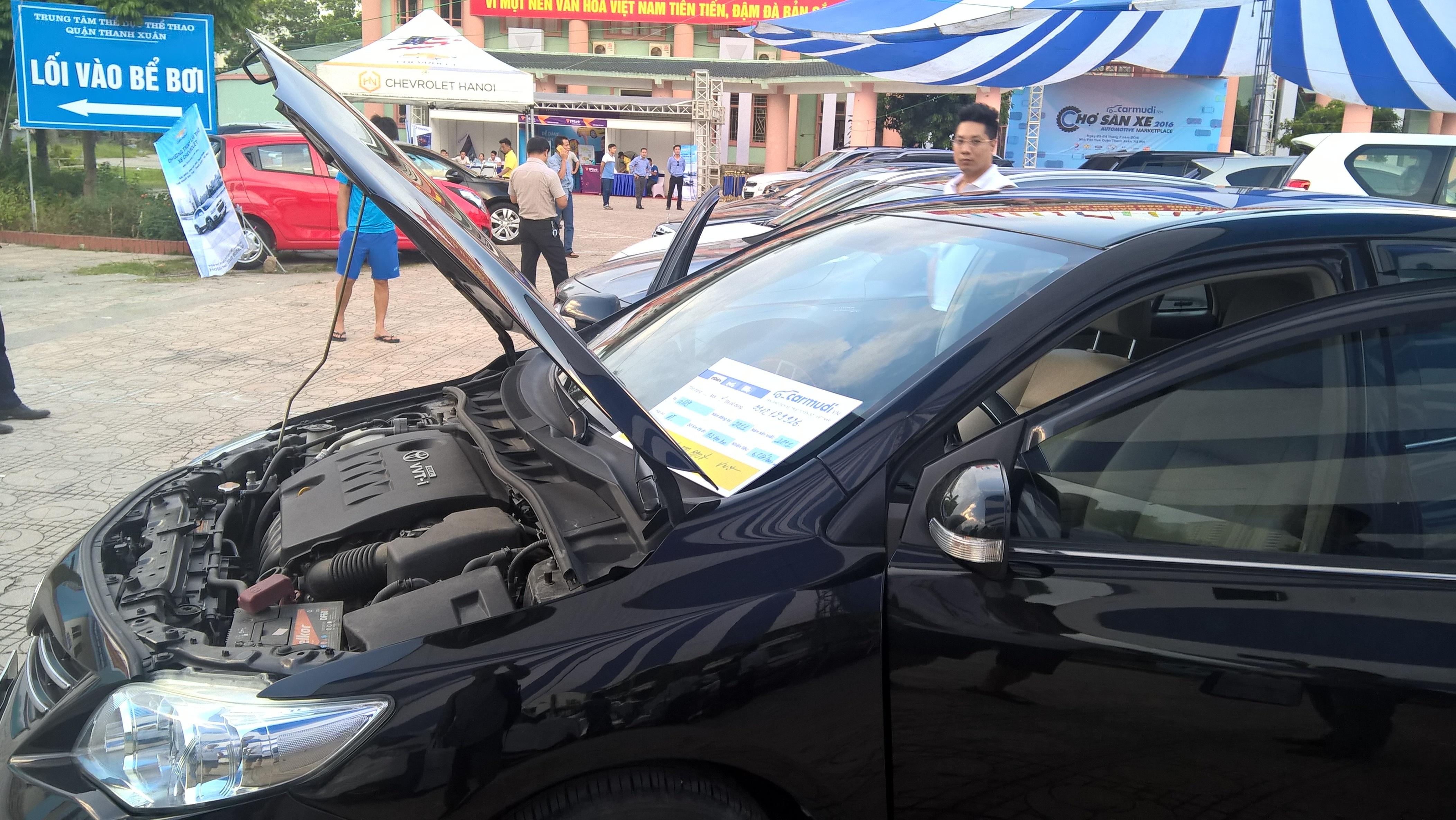 Các xe tại chợ này đều được yêu cầu kiểm tra về động cơ, khai báo sự cố trước khi bán