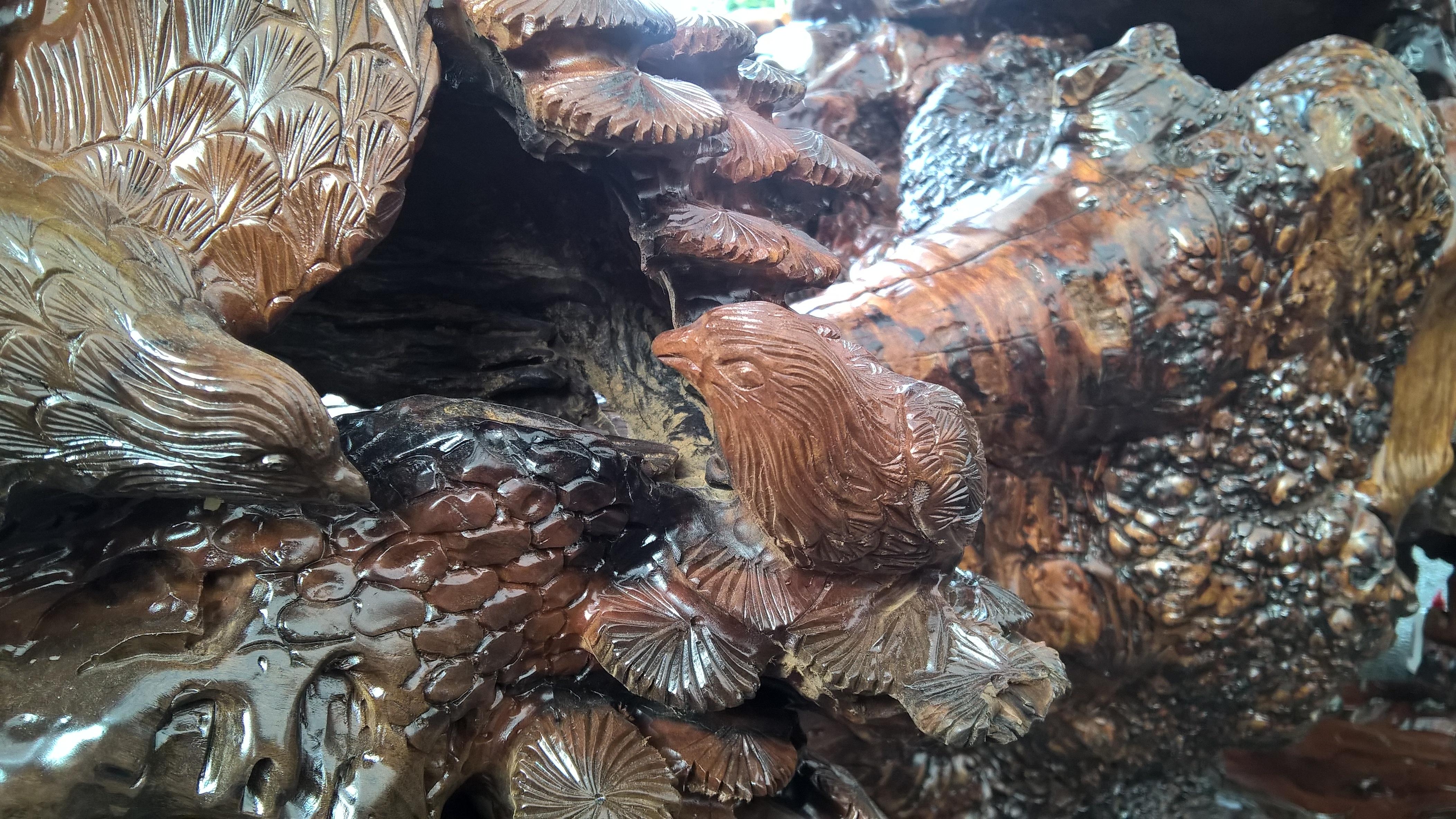 Cận cảnh bộ bàn ghế gỗ nu được rao bán hơn 1 tỷ đồng tại Hà Nội - 7