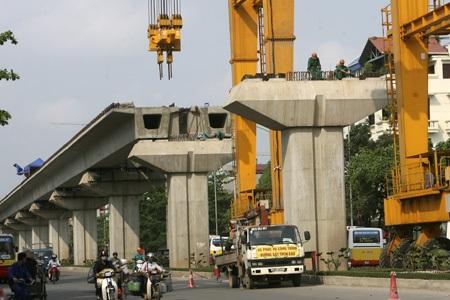 Tuyến đường sắt Cát Linh - Hà Đông sẽ được vận hành thử vào tháng 6/2016 (ảnh: Hữu Nghị)