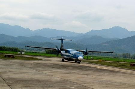 Sân bay Điện Biên Phủ hiện đang khai thác bằng máy bay ATR72