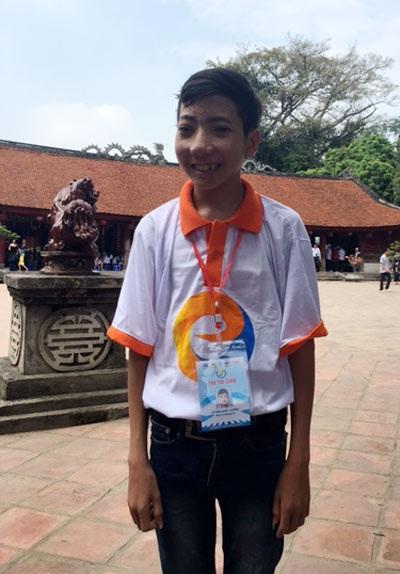 Em Lê Văn Quốc Cường đoạt giải Nhất cuộc thi Giao thông học đường tỉnh Quảng Trị
