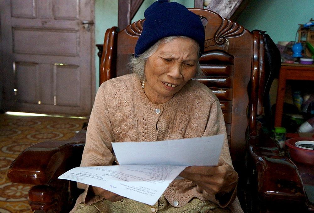 Ở tuổi 75, bà Lích mong cơ quan chức năng sớm giải quyết vụ việc khiếu nại của bà