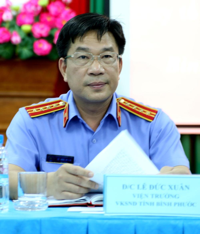 Viện trưởng Viện KSND Bình Phước Lê Đức Xuân giữ quyền công tố