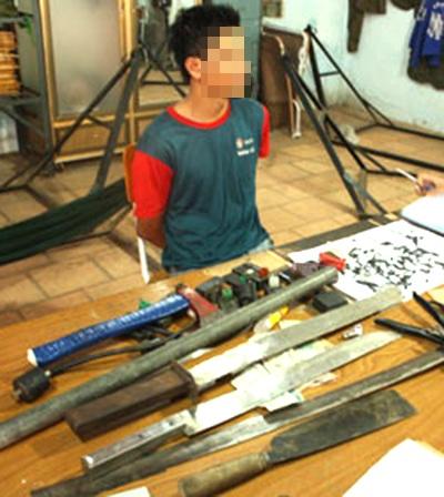 Một trùm đinh tặc từng bị các hiệp sĩ Bình Dương tóm gọn cùng nhiều tang vật liên quan
