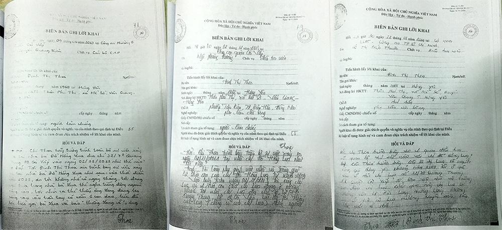 Lời khai của nhân chứng với cơ quan công an về việc bà Lụa bị chồng cũ dùng dao khống chế ép buộc viết giấy nhận nợ 2,5 tỷ đồng