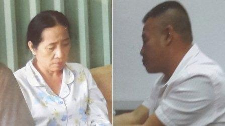 Hai đối tượng Trần Thị Thu Thảo và Đỗ Văn Chi tại cơ quan điều tra