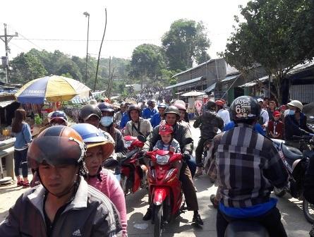Hàng ngàn lượt du khách đổ về núi Cấm