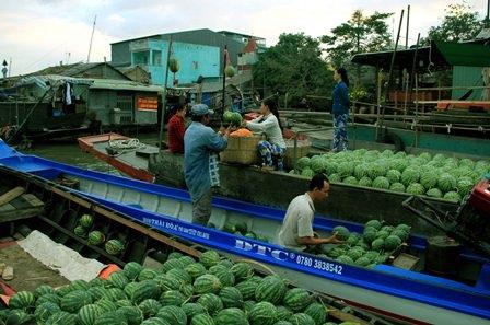 Chợ nổi Cái Răng được xem là địa du lịch hấp dẫn ở vùng ĐBSCL