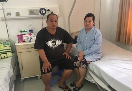 Vợ chồng chị Phương ở Bệnh viện ĐKTP Cần Thơ, sức khỏe diễn tiến tốt, chờ ngày xuất viện