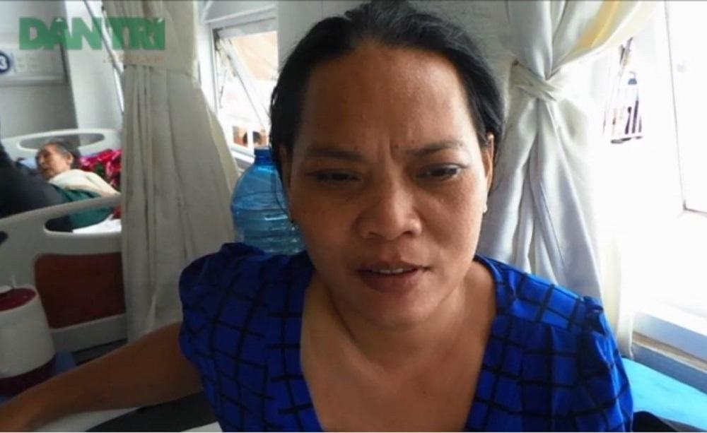 Chị Trịnh Ngọc Yến bị biến chứng nặng sau mổ tại phòng mạch Hoàng Kim