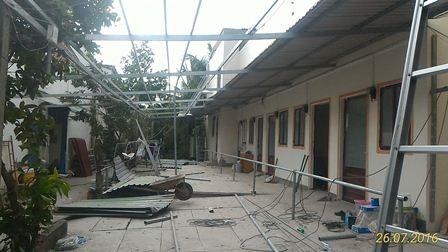 Bà Hương bắt đầu tháo dỡ nhà trọ từ ngày 26/7