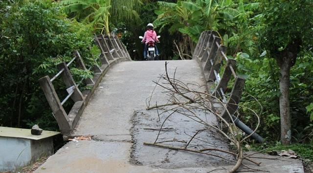 Một số cây cầu được trám xi măng những điểm đã bị đập vỡ.