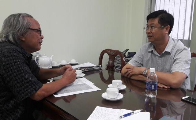 Ông Trương Quang Hoài Nam - Phó chủ tịch UBND TP Cần Thơ tiếp xúc với PV Dân trí chiều 4/8