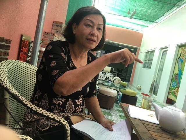 Bà Nguyễn Ngọc Điệp tiếp xúc PV Dân trí ngày 7/9