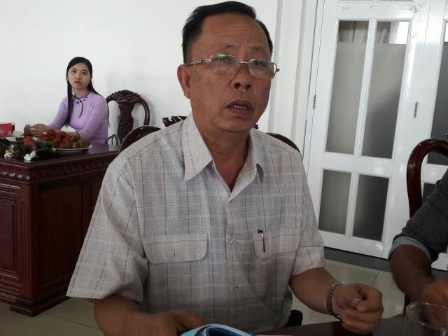 Ông Trần Công Chánh, Bí thư Tỉnh ủy Hậu Giang tiếp xúc với PV Dân trí sáng 13/9
