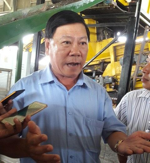 Ông Trần Văn Rón, Bí thư tỉnh ủy Vĩnh Long trả lời báo chí về vụ nhà máy rác Phương Thảo.