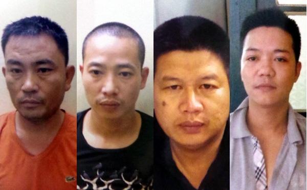 Các đối tượng trong nhóm cướp bị cảnh sát bắt giữ.