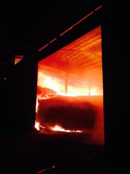 Kho mì xảy ra cháy là kho mì đang được niêm phong