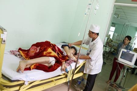 Một nạn nhân trong vụ tai nạn do ông Hùng gây ra