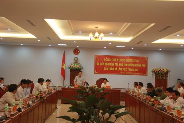 Phó Thủ tướng Vương Đình Huệ thăm, làm việc tại Gia Lai