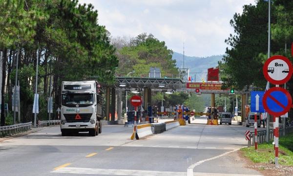 Trạm thu phí BOT tại Gia Lai sau khi thi công nâng cấp, mở rộng 23,3km đường