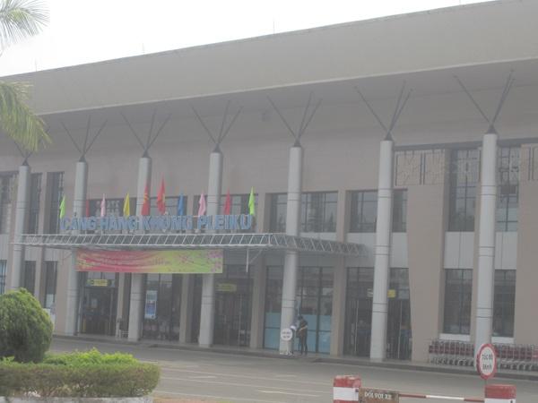 Cảng hàng không Pleiku nơi xảy ra vụ việc