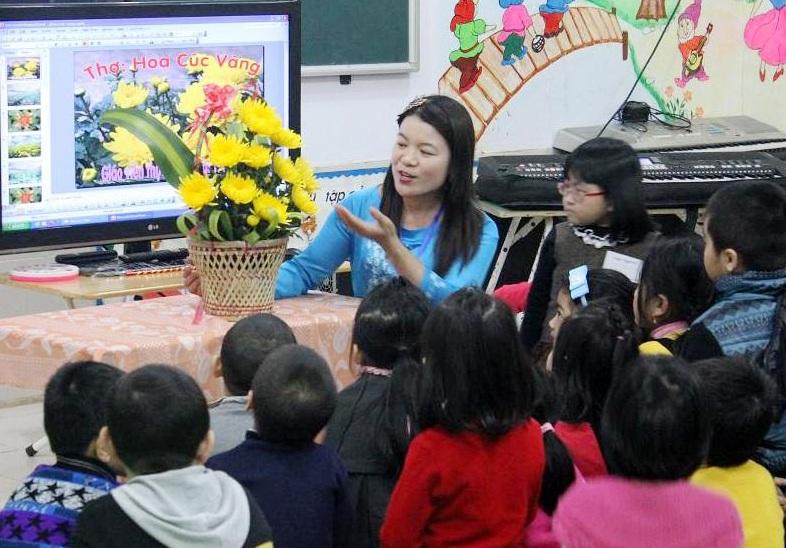 Thi giáo viên dạy giỏi bậc mầm non ở Nghệ An